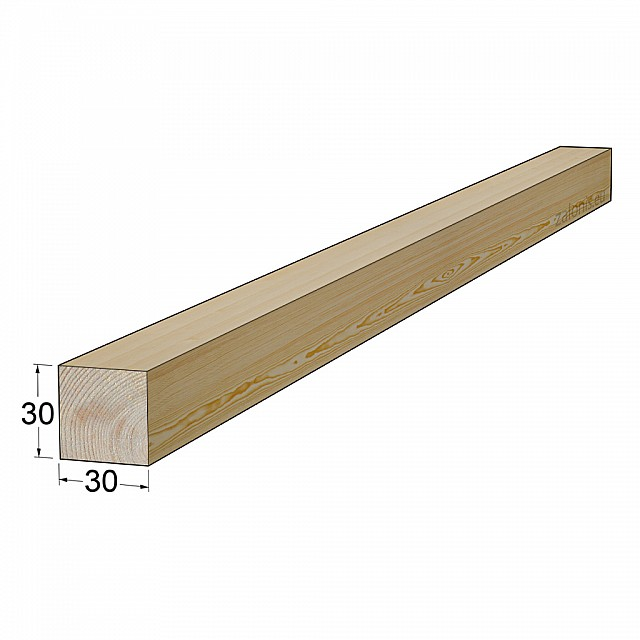 TIMBER SQUARE BEAM 30x30 mm / PINE